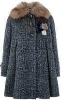 Monsoon Alma Tweed Coat
