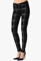7 For All Mankind The Skinny In Silver Black Plaid