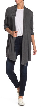 Max Studio Open Front Heathered Cardigan