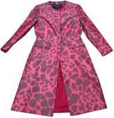 Giambattista Valli Red Silk Coat for Women