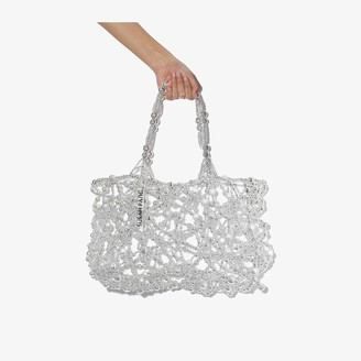 Susan Fang silver tone Bubble beaded shoulder bag