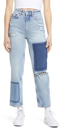 BDG Pax High Waist Nonstretch Patchwork Jeans