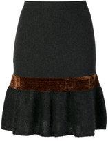D-Exterior D.Exterior metallic detail peplum skirt