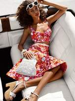 Michael Kors Sequined Floral Jacquard Trumpet Skirt
