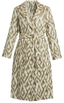 Raquel Allegra Abstract-jacquard cotton-blend coat