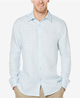 Cubavera Men's 100% Linen Grid-Pattern Shirt