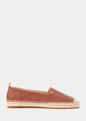 Ralph Lauren Cameryn Tumbled Leather Espadrille