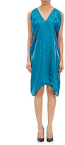 Zero Maria Cornejo WOMEN'S RASA DRESS-DARK GREEN SIZE 8