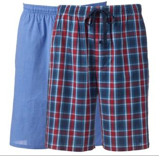Hanes Men's Classics 2-pack Plaid Woven Jams Sleep Shorts