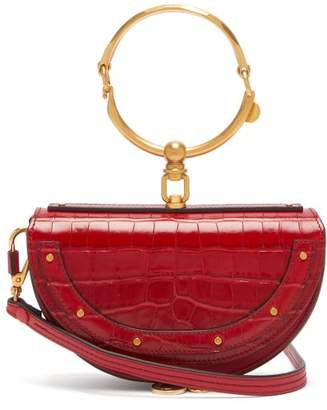 Chloé Nile Leather Minaudiere Clutch Bag - Womens - Red