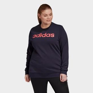 adidas Women's Essentials Crewneck Sweatshirt (Plus Size)