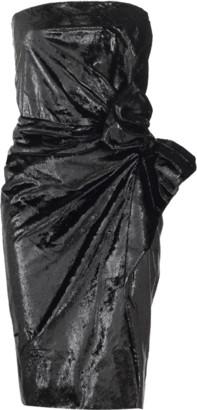 Lanvin Strapless Velour Lame Dress