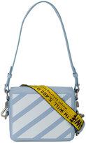 Off-White Blue warning tape shoulder bag - women - Leather - One Size