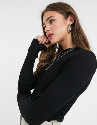Threadbare hannah crew neck ribbed jumper