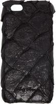 Rick Owens Black Pirarucu Fish Leather Iphone 6 Case