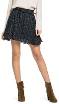 Scotch & Soda Belted Abstract Print Mini Skirt