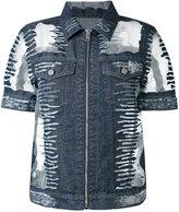 Diesel short-sleeve denim jacket - women - Cotton/Nylon - S
