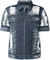Diesel short-sleeve denim jacket - women - Cotton/Nylon - XS
