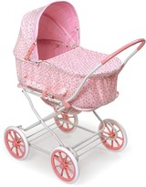 The Well Appointed House Pink Rosebud 3-in-1 Doll Pram, Carrier & Stroller