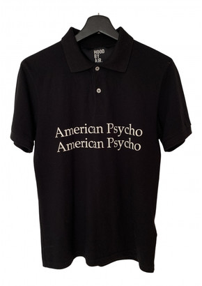 Hood by Air Black Cotton Polo shirts