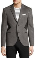 Neil Barrett Modernist-Stripe Sport Jacket, Gray