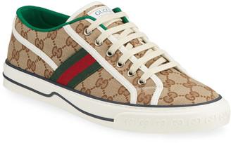 Gucci Men's Tennis 1977 GG Canvas Sneakers