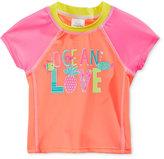 Swim Time Ocean Love Rashguard Swim Top, Baby Girls (0-24 months)