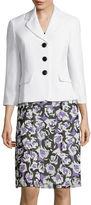 Le Suit Plain Weave Jacket with Floral Soft Skirt