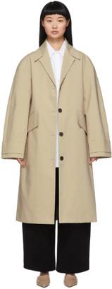Studio Nicholson Beige Bonded Vega Mac Coat