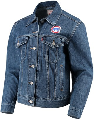 Levi's Women's Chicago Cubs Patch Trucker Denim Jacket
