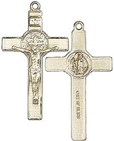 Blissliving Home Benedict Medal 14K Rosary Crucifix