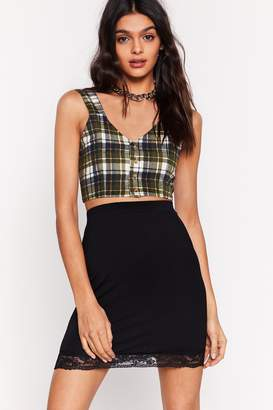 Nasty Gal Lace That a Lot Bodycon Mini Skirt