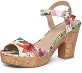 Dorothy Perkins Womens Wide Fit Print 'Romana' Sandals- Multi Colour