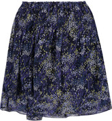 Joie Gazania printed silk-chiffon mini skirt