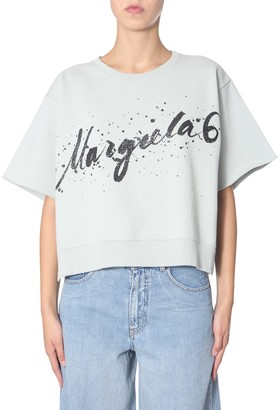 MM6 MAISON MARGIELA cropped sweatshirt