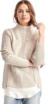 Gap Mix-knit mockneck sweater