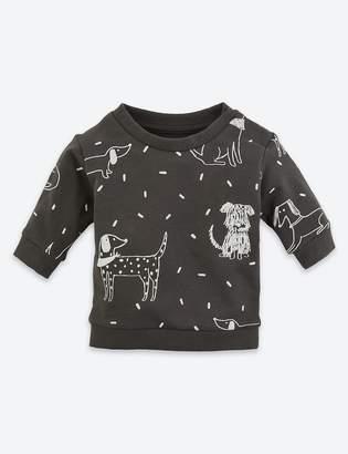Marks and Spencer Organic Cotton Dog Print Sweatshirt