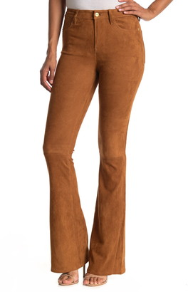 Frame Le High Flare Suede Pants