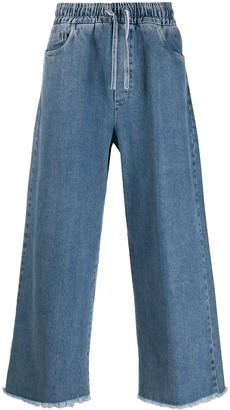 Sunnei Drawstring Wide-Leg Jeans