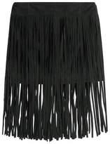 McQ Fringed Suede Mini Skirt