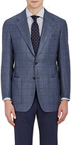 Kiton Men's Windowpane-Plaid Two-Button Sportcoat-GREY
