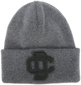 DSQUARED2 embroidered logo ski knit hat - men - Wool - One Size