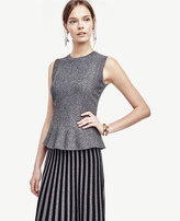 Ann Taylor Marled Sleeveless Flared Shell
