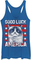 Fifth Sun Women's Tank Tops ROY - Grumpy Cat 'Good Luck America' Tank - Women & Juniors