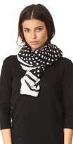 Kate Spade Polka Dot Stripe Oblong Scarf
