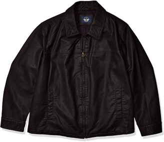 Dockers Tall Big & Tall James Classic Faux Leather Laydown Collar Jacket