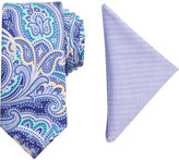 Tallia Men's King Paisley Slim Tie & Pocket Square Set
