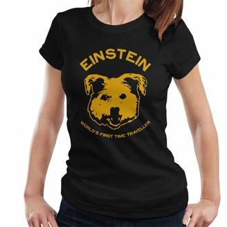 Cloud City 7 Einstein Time Traveller Back to The Future Women's T-Shirt Black