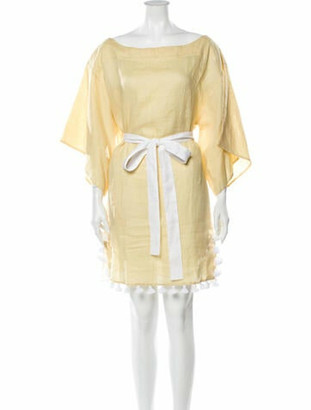 March 11 Linen Mini Dress Yellow