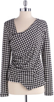 VINCE CAMUTO Houndstooth Asymmetric Top